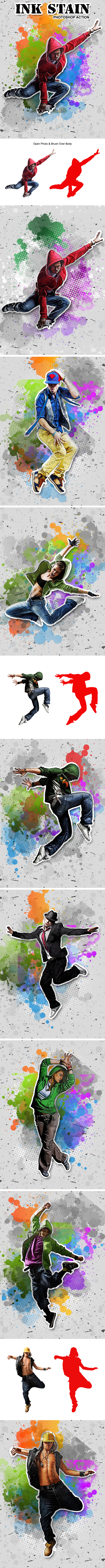 GraphicRiver Ink Stain Photo Action 20292020