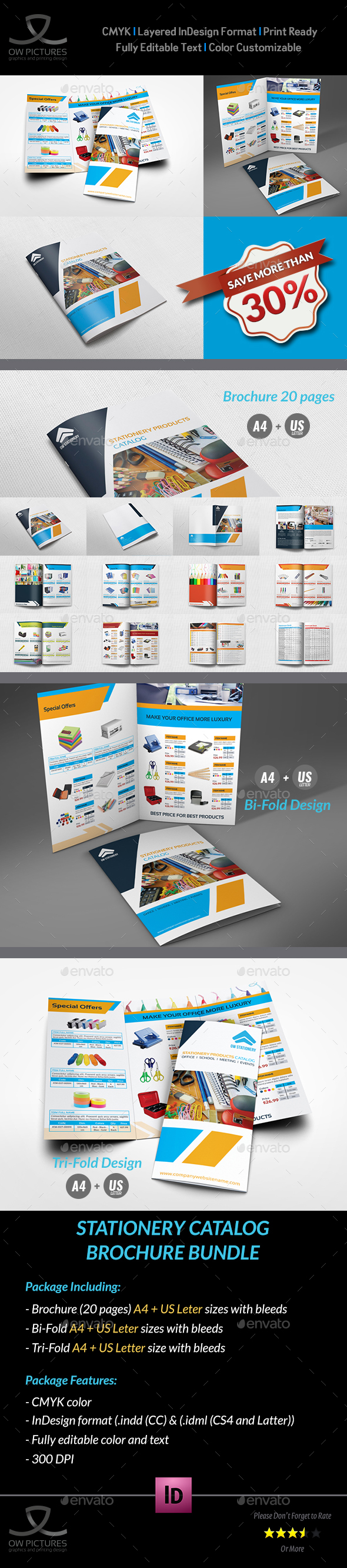 Stationery Products Catalog Brochure Bundle - Catalogs Brochures