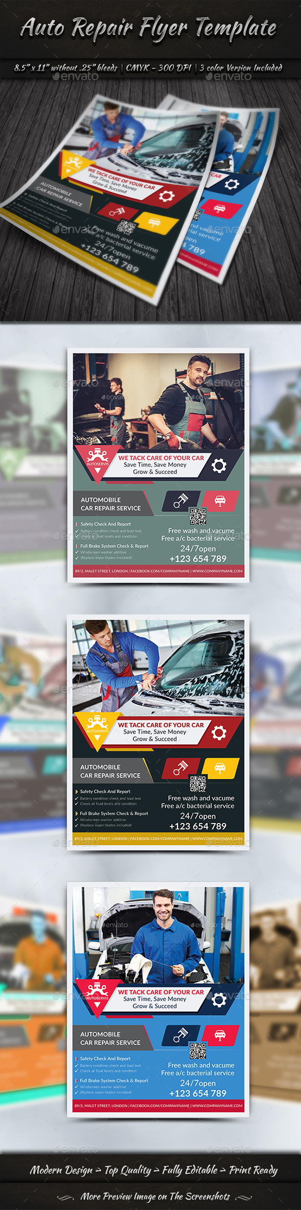 GraphicRiver Auto Repair Flyer 20292083