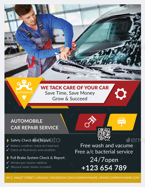 auto repair flyer by graphicshaper graphicriver