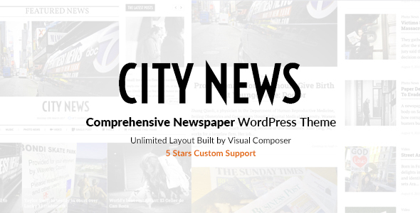 CityNews Comprehensive Newspaper WordPress Theme