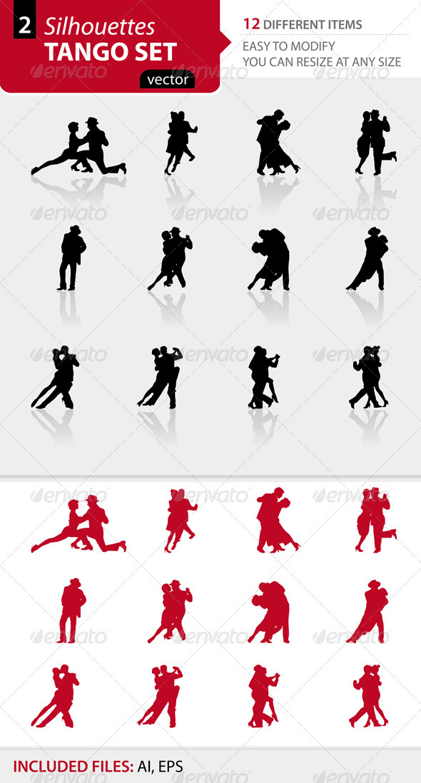 Tango silhouettes Set2 - People Characters