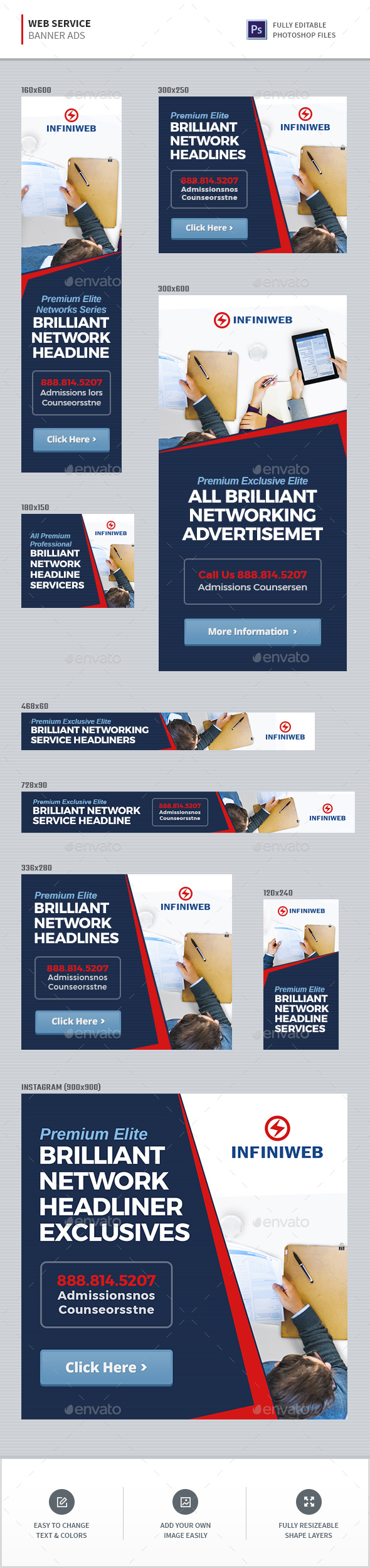 Web Service Banners - Banners & Ads Web Elements