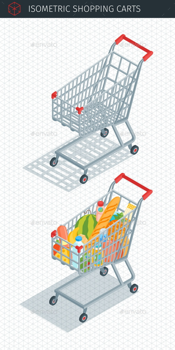 Isometric Shopping Carts - Commercial / Shopping Conceptual