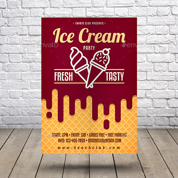 Ice Cream Party Flyer - Events Flyers
