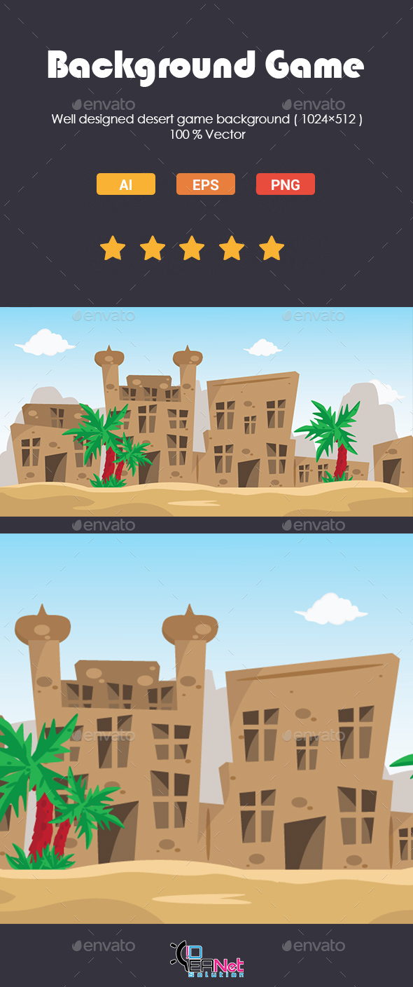 GraphicRiver Desert Game Background 20259697