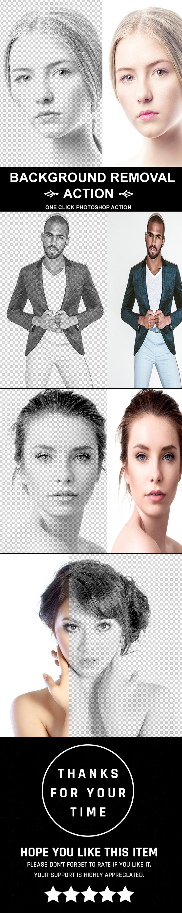 Background Removal Action - Photo Effects Actions