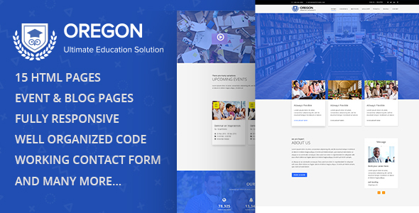 ThemeForest Oregon Education MultiPage HTML Template 20292701