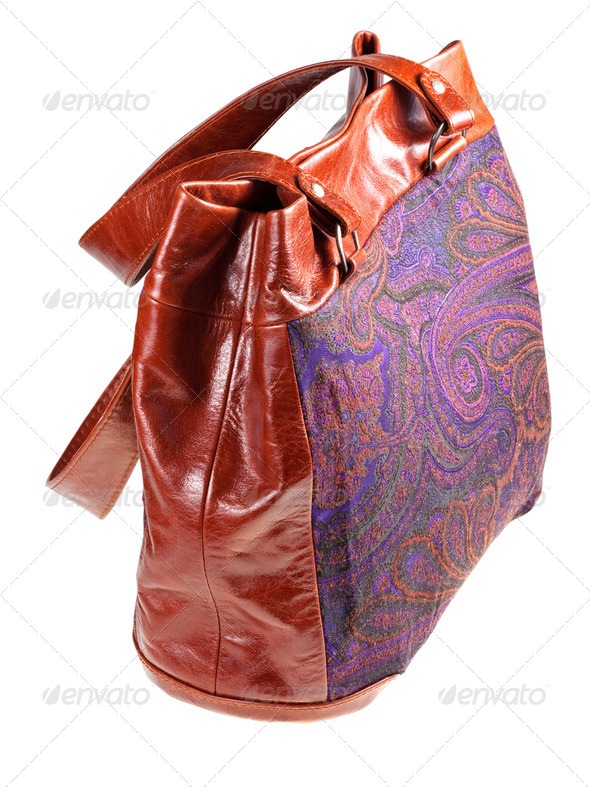 paisley handbag - Stock Photo - Images
