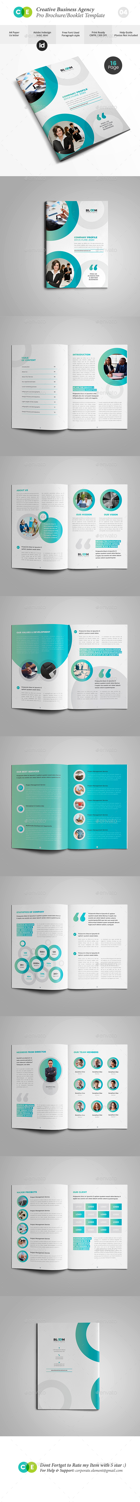 Business Creative Agency Brochure V04 - Brochures Print Templates
