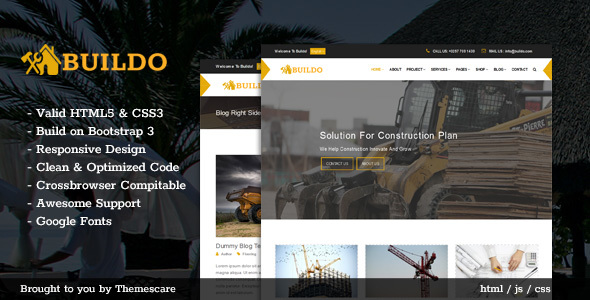 Buildo - Construction & Building HTML5 Template