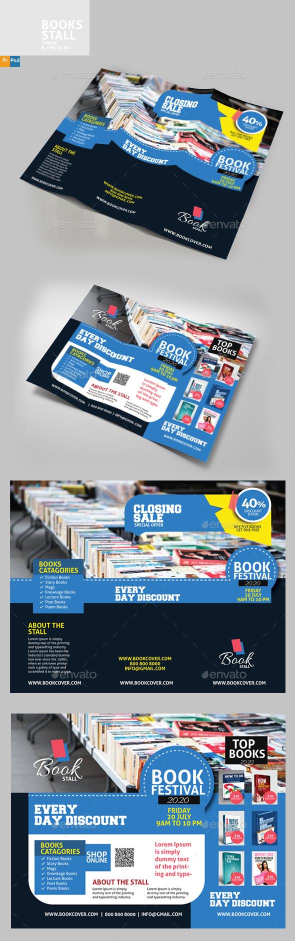 GraphicRiver Book Stall Brochure 20293315