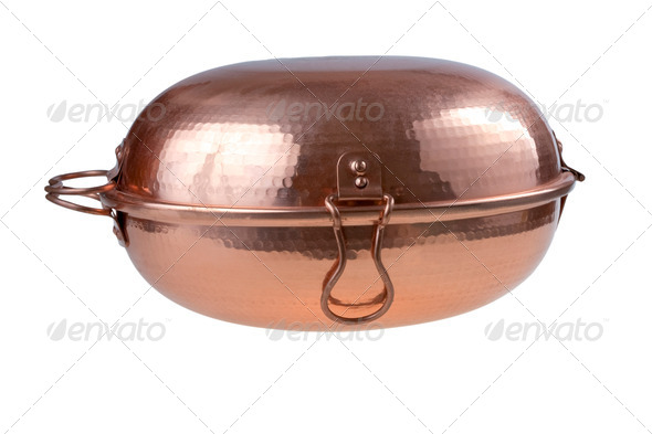copper Portugal cataplana - Stock Photo - Images