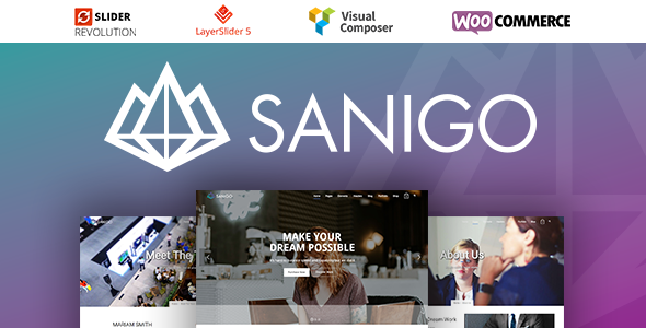 Sanigo Modern Technology WordPress Theme