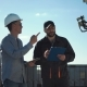 Constructor and Taskmaster Walking on Roof - VideoHive Item for Sale