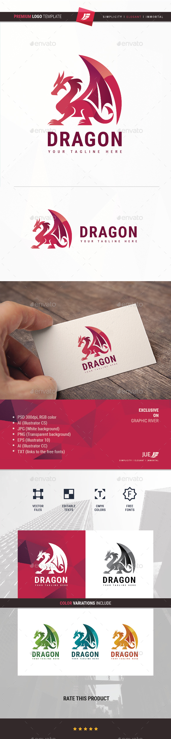 GraphicRiver Dragon Logo 20293430