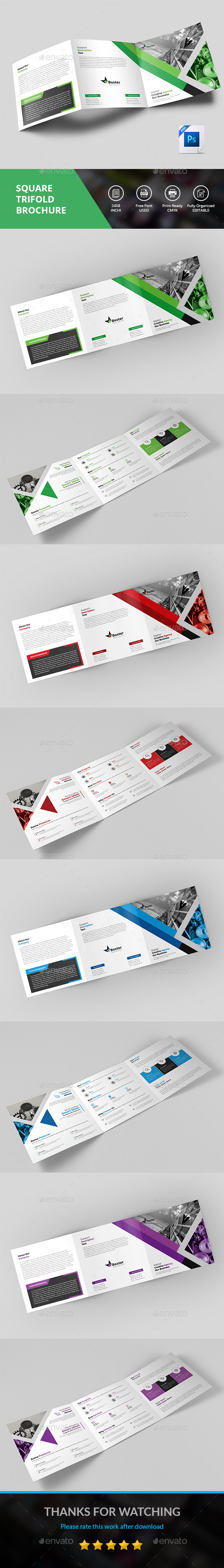 Square Trifold - Brochures Print Templates