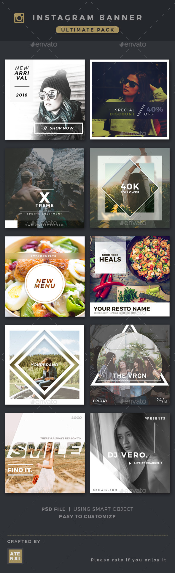 GraphicRiver Instagram Banner Pack 20293779