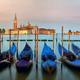 Gondolas in Venice, sunrise panorama - PhotoDune Item for Sale