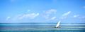 Indian Ocean panorama in Zanzibar