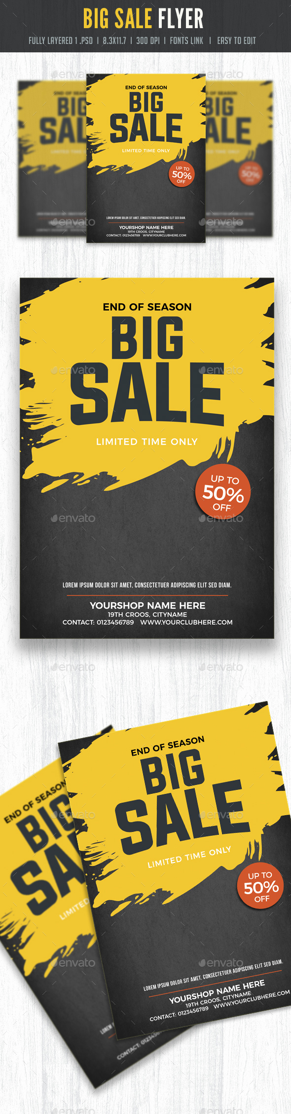 Sale Flyer Poster template - Flyers Print Templates