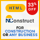 NConstruct - Business Template for Construction, Building, Renovation Company Nulled