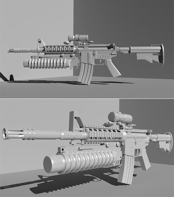 3DOcean Gun 20293998