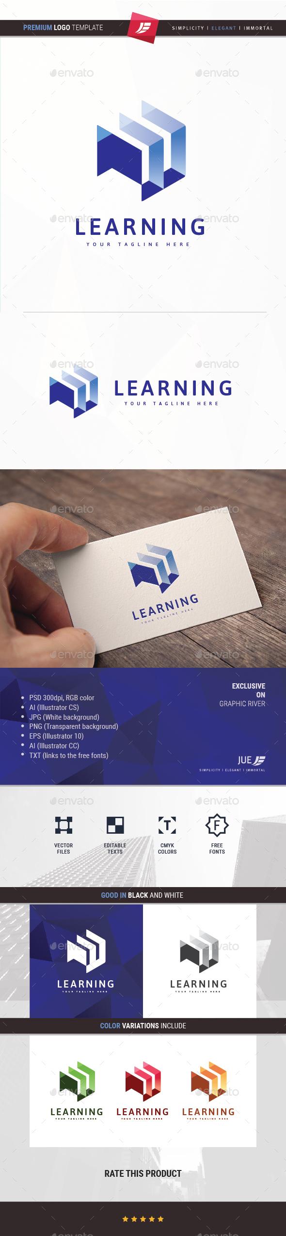 Cubic Learning Logo - Symbols Logo Templates