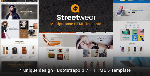 Streetwear - Responsive Multipurpose E-Commerce HTML5 Template