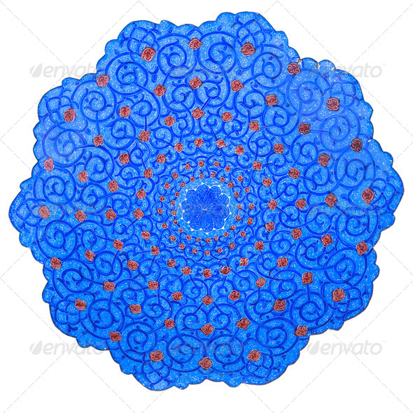 traditional Iran plate - Stock Photo - Images