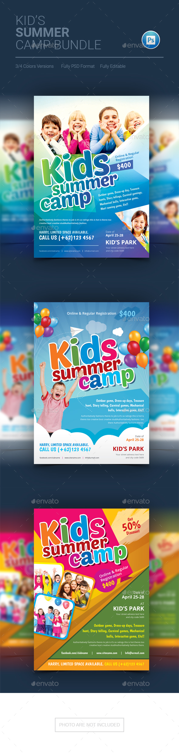 GraphicRiver Kids Summer Camp Flyer 20294466