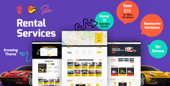 CarRent - Multipurpose Car Rental And Hire HTML Template