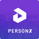 PersonX - Material Design Personal Template - ThemeForest Item for Sale