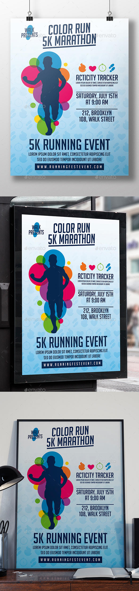 Run Event Flyer Template - Sports Events