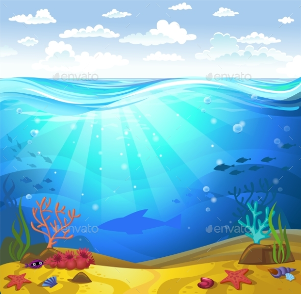 GraphicRiver Underwater- Seabed with Corals 20295002