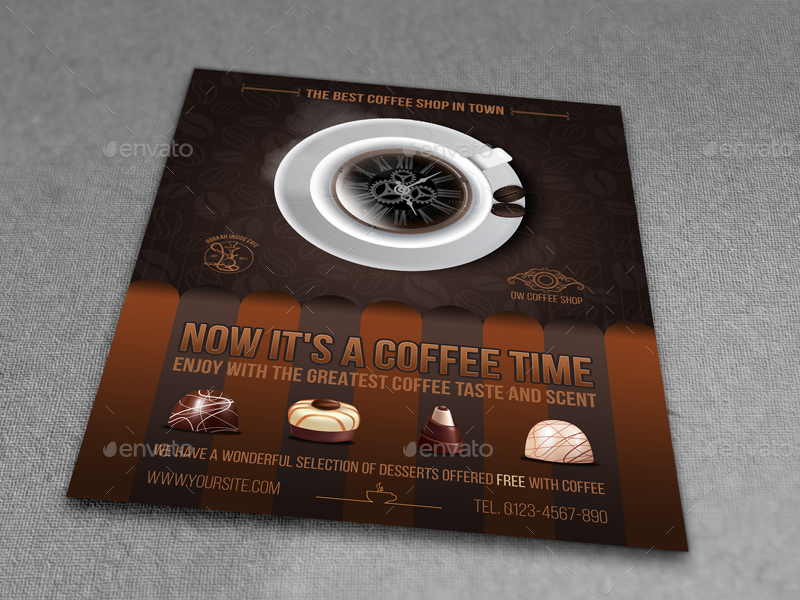 Cafe - Coffee Shop Flyer Template Vol.6 By Owpictures | Graphicriver