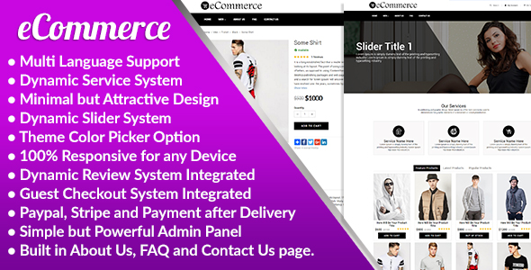 eCommerce - Responsive Ecommerce Business Management System - CodeCanyon Item for Sale