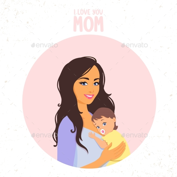 GraphicRiver Mom with Baby 20295554