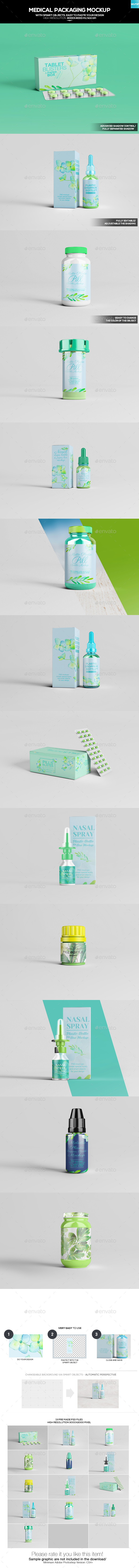 Medical Packaging Mockup - Miscellaneous Packaging