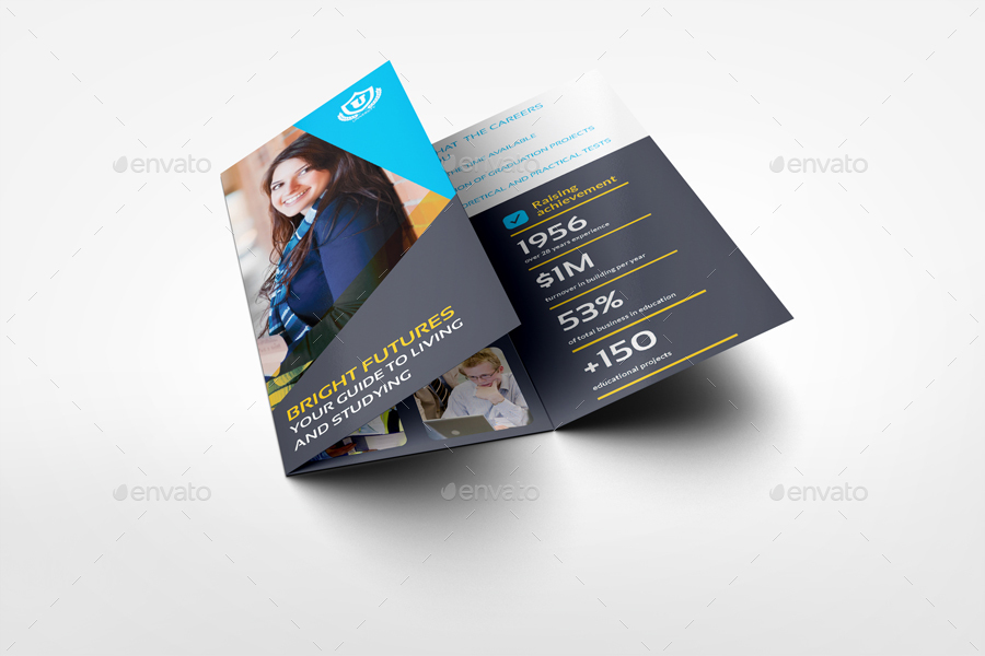 University College Tri Fold Brochure Template By Owpictures
