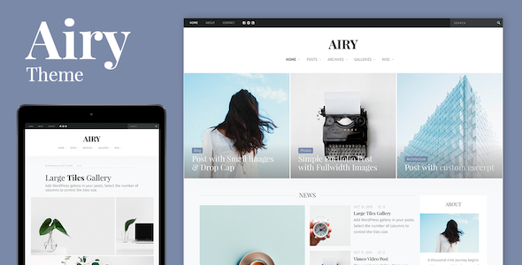 ThemeForest Airy Blog & Magazine Modular Theme 20295731