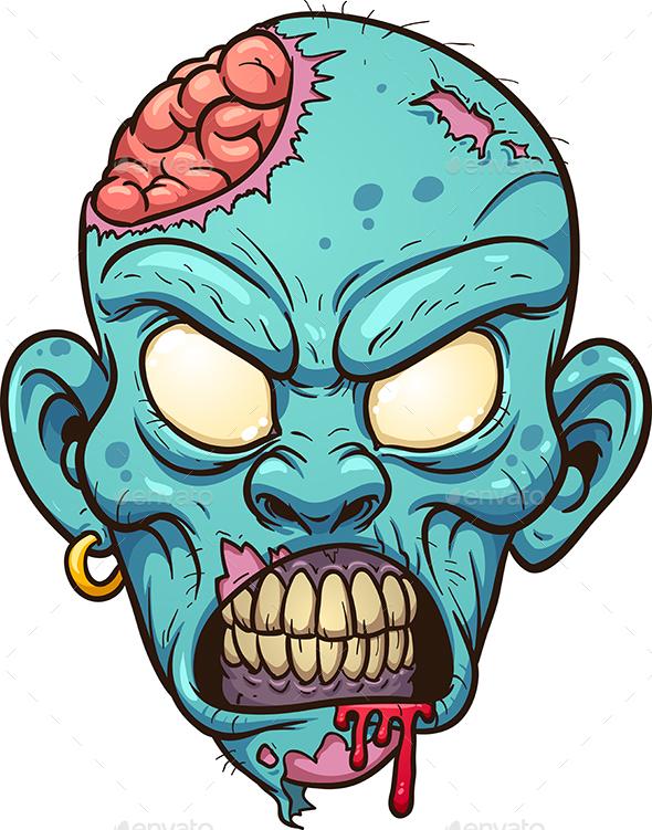 Zombie Head - Halloween Seasons/Holidays