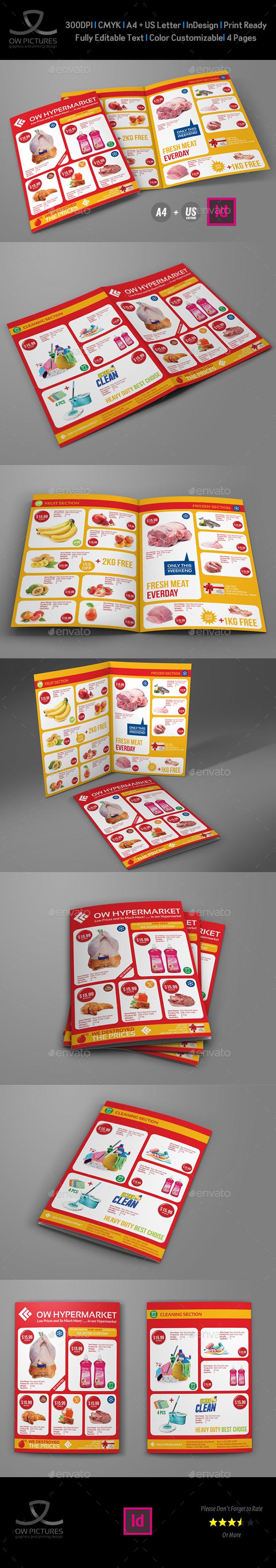 Supermarket Products Catalog Bi-Fold Brochure Vol.3 - Catalogs Brochures