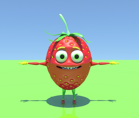 3DOcean Strawberry character 20295915