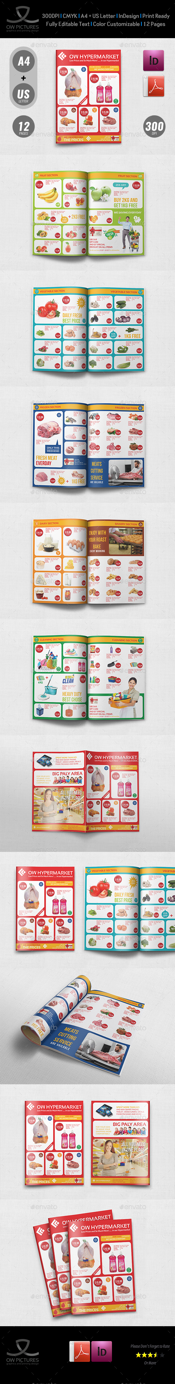 Supermarket Catalog Brochure Template Vol.4 - 12 Pages - Catalogs Brochures