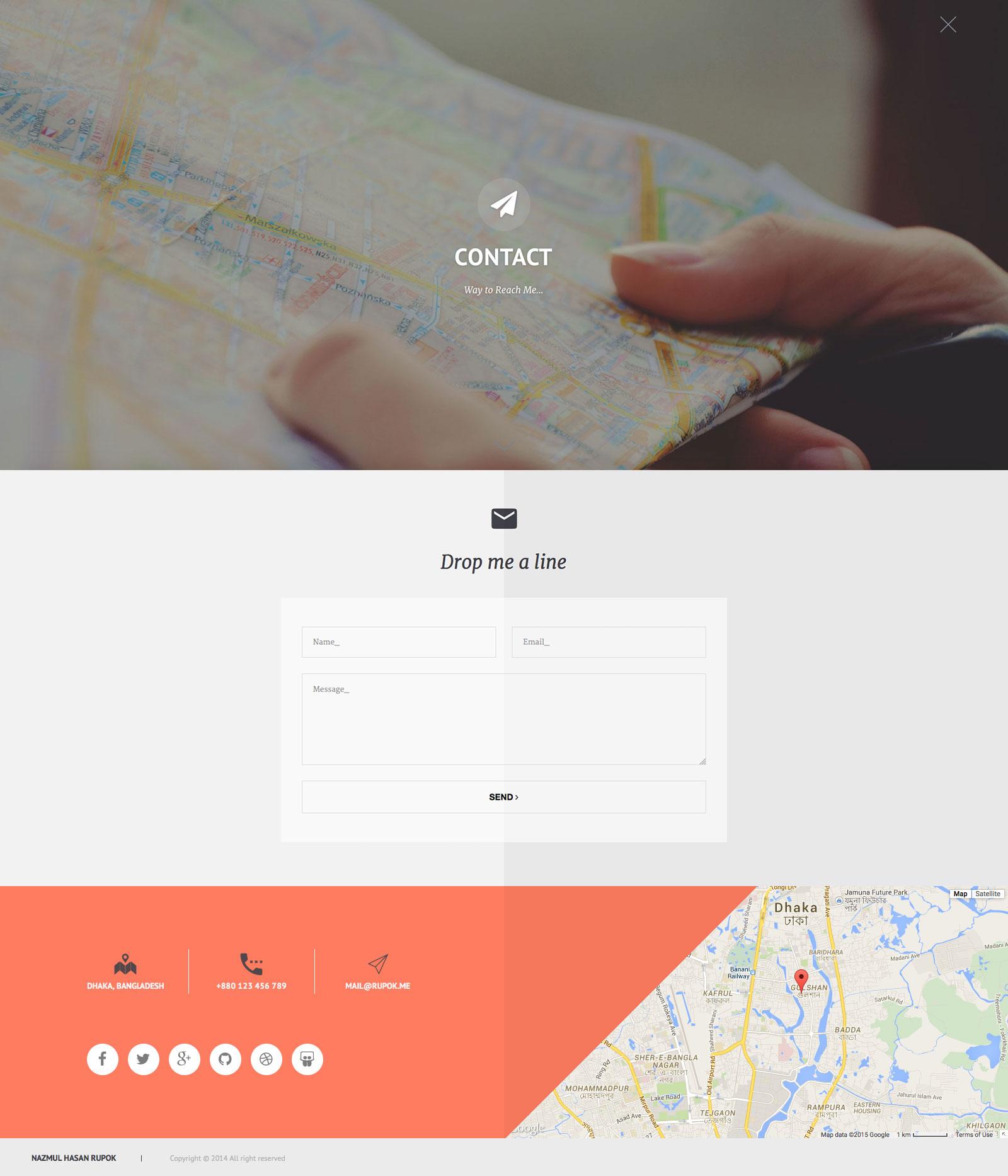 privado interactive resume portfolio template by