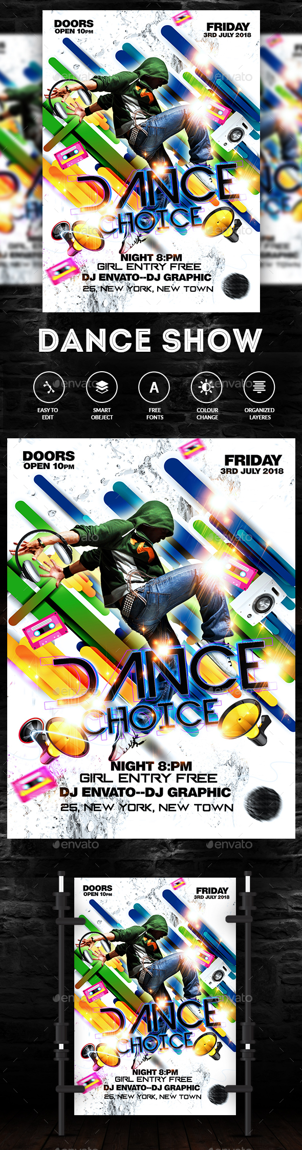 GraphicRiver Dance Show Flyer 20296947