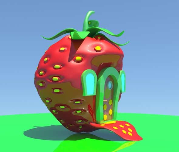 3DOcean Strawberry House 20297655