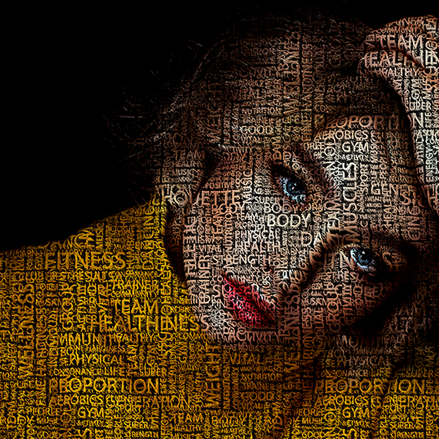 Typography portrait photoshop action by irmuundesign Typography portrait