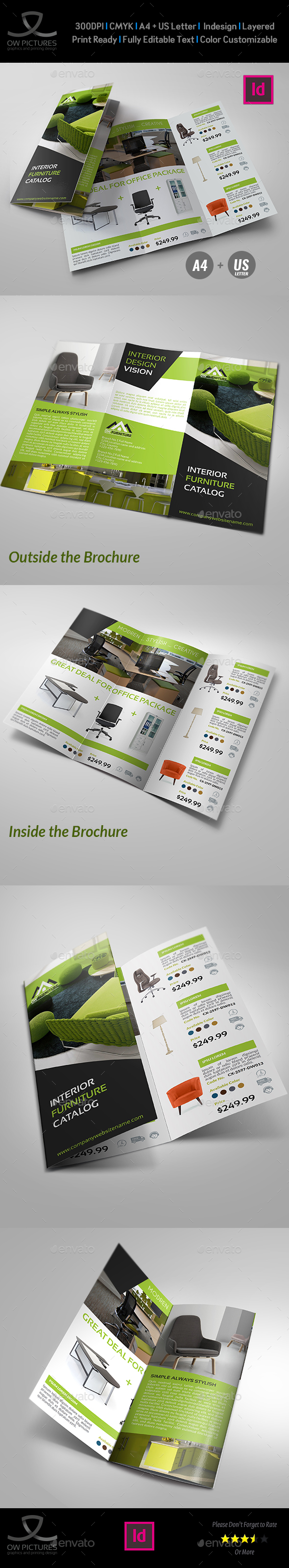 Furniture Products Catalog Tri-Fold Brochure - Catalogs Brochures